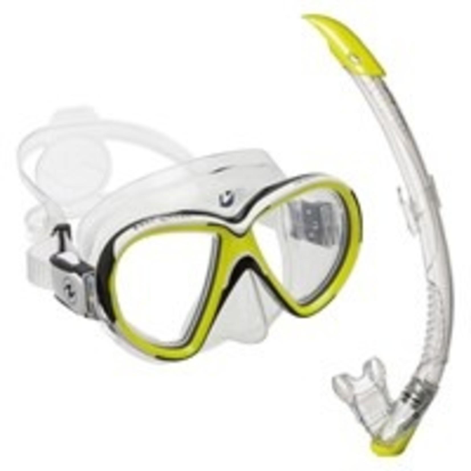 Aqua Lung Set Reveal X2 TS Hot Lime + Zephyr Transparant/Hot Lime