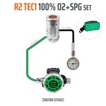 Tecline Regulator R2 TEC1 100% O2 M26x2 with SPG, stage set - EN250A