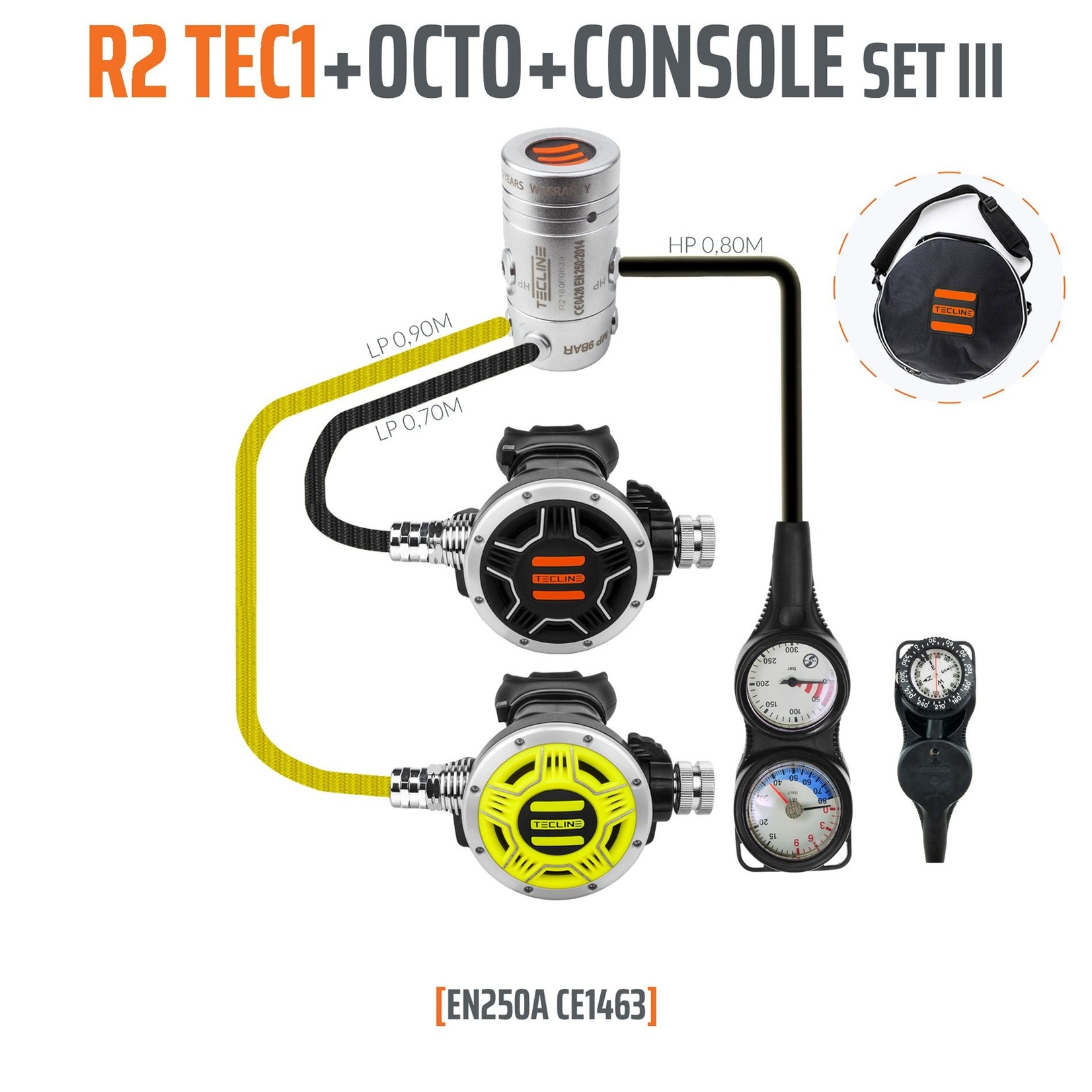 Tecline Regulator R2 TEC1 set III with octo and 3 elements console - EN250A