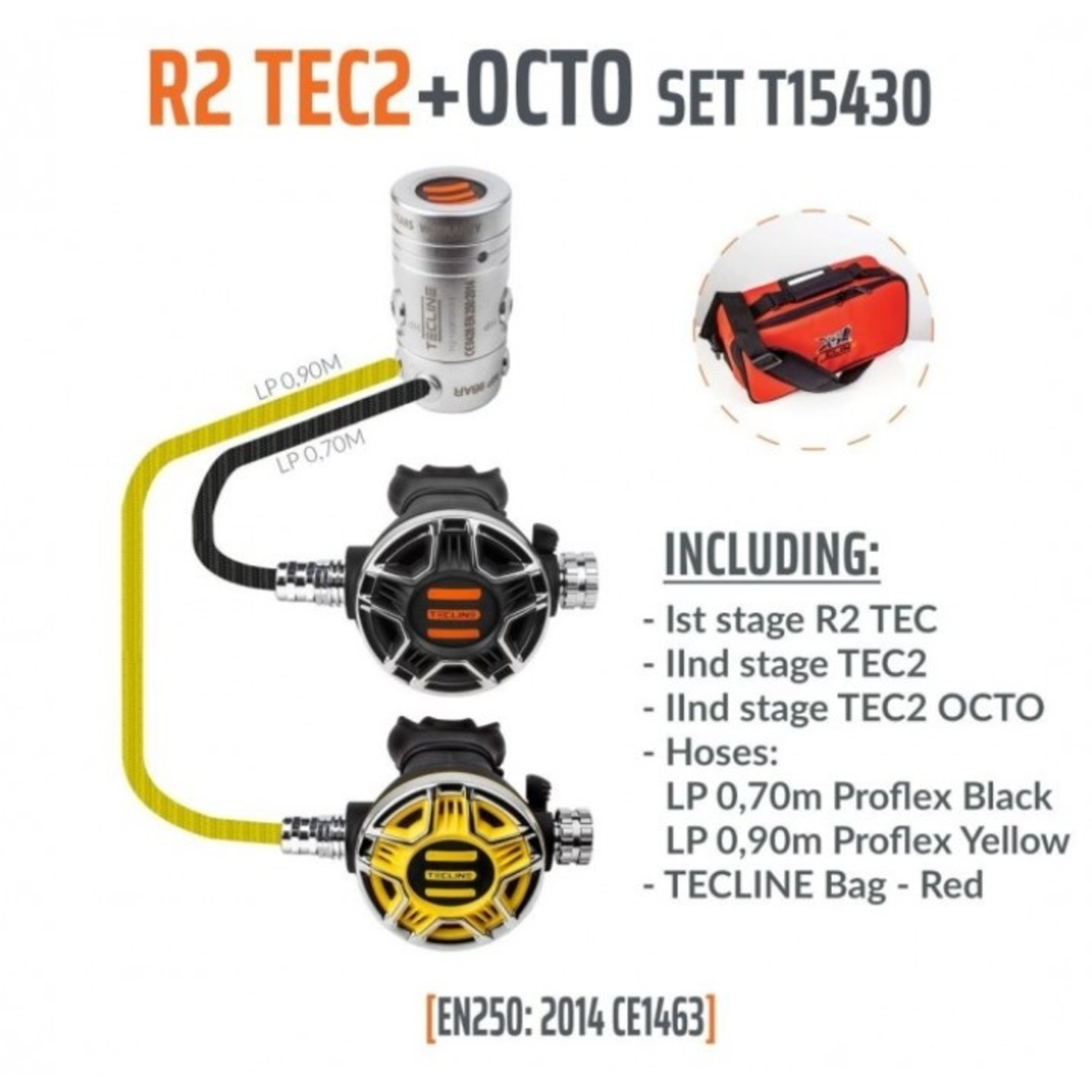 Tecline Regulator R2 TEC2 with octopus - EN250A
