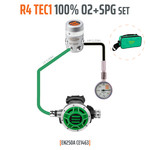 Tecline Regulator R4 TEC1 100% O2 M26x2 with SPG, stage set - EN250A