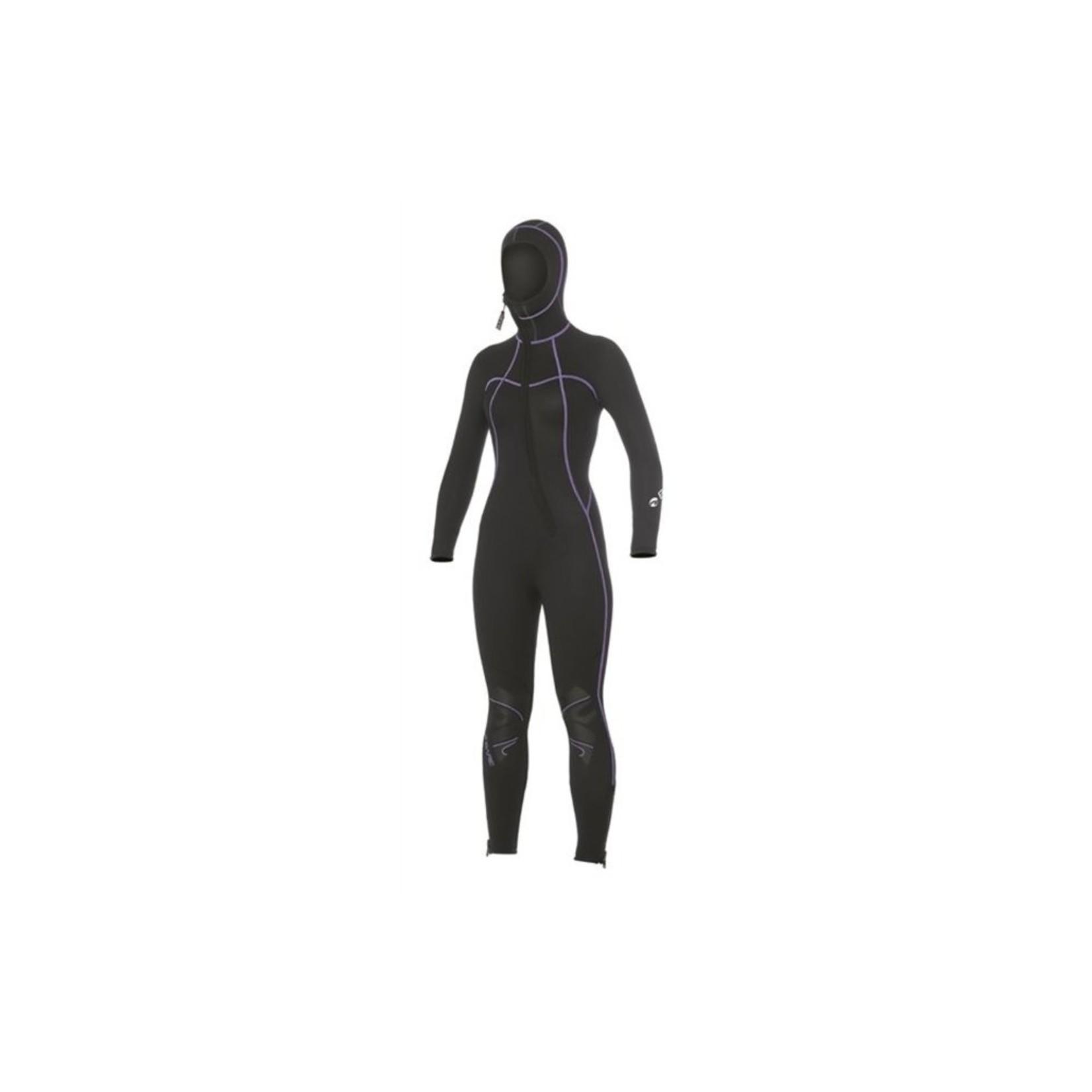 Bare 7mm Nixie S-Flex Hooded Full Black - Women