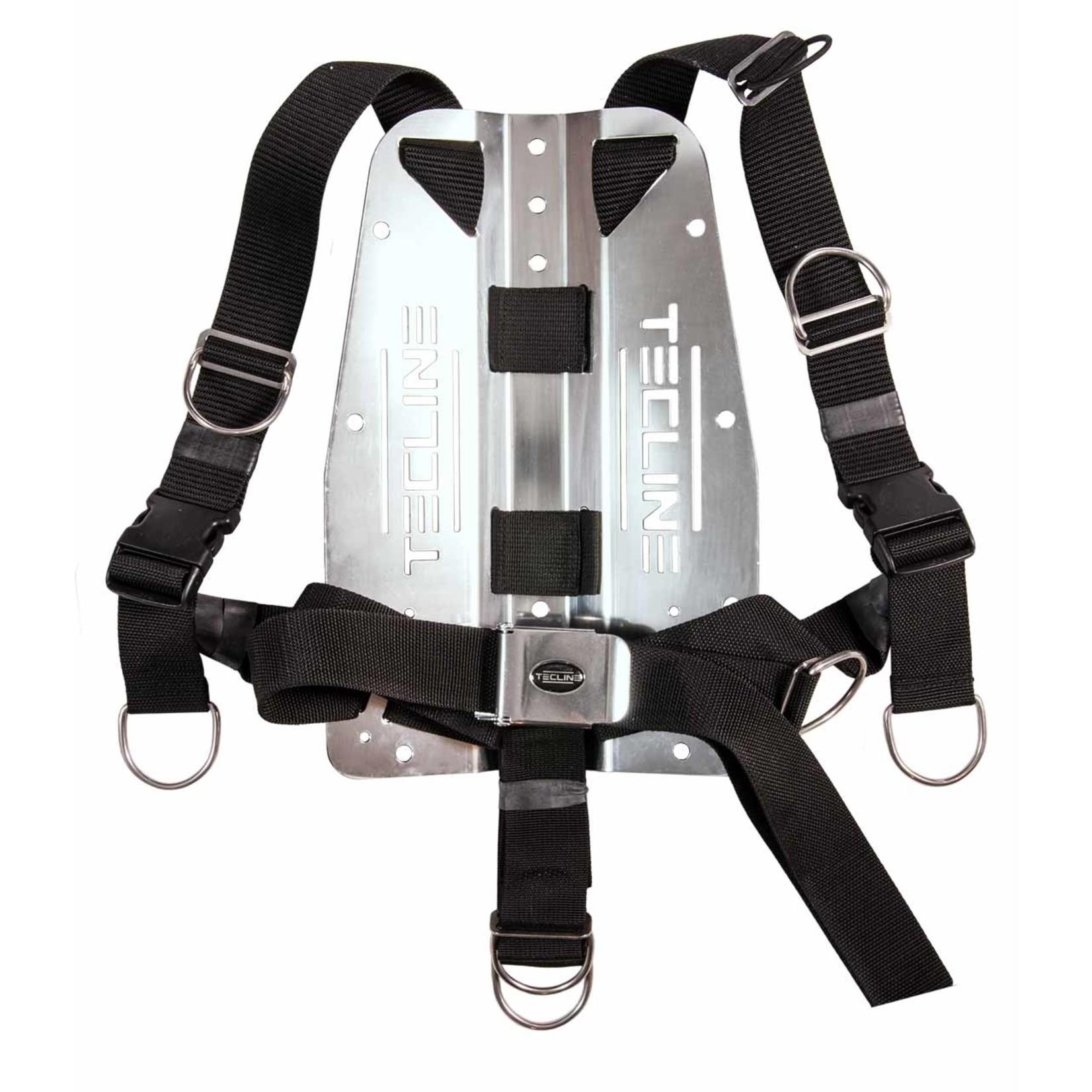 Tecline Harness TecLine QR standard webbing - incl. 3 mm RVS backplate
