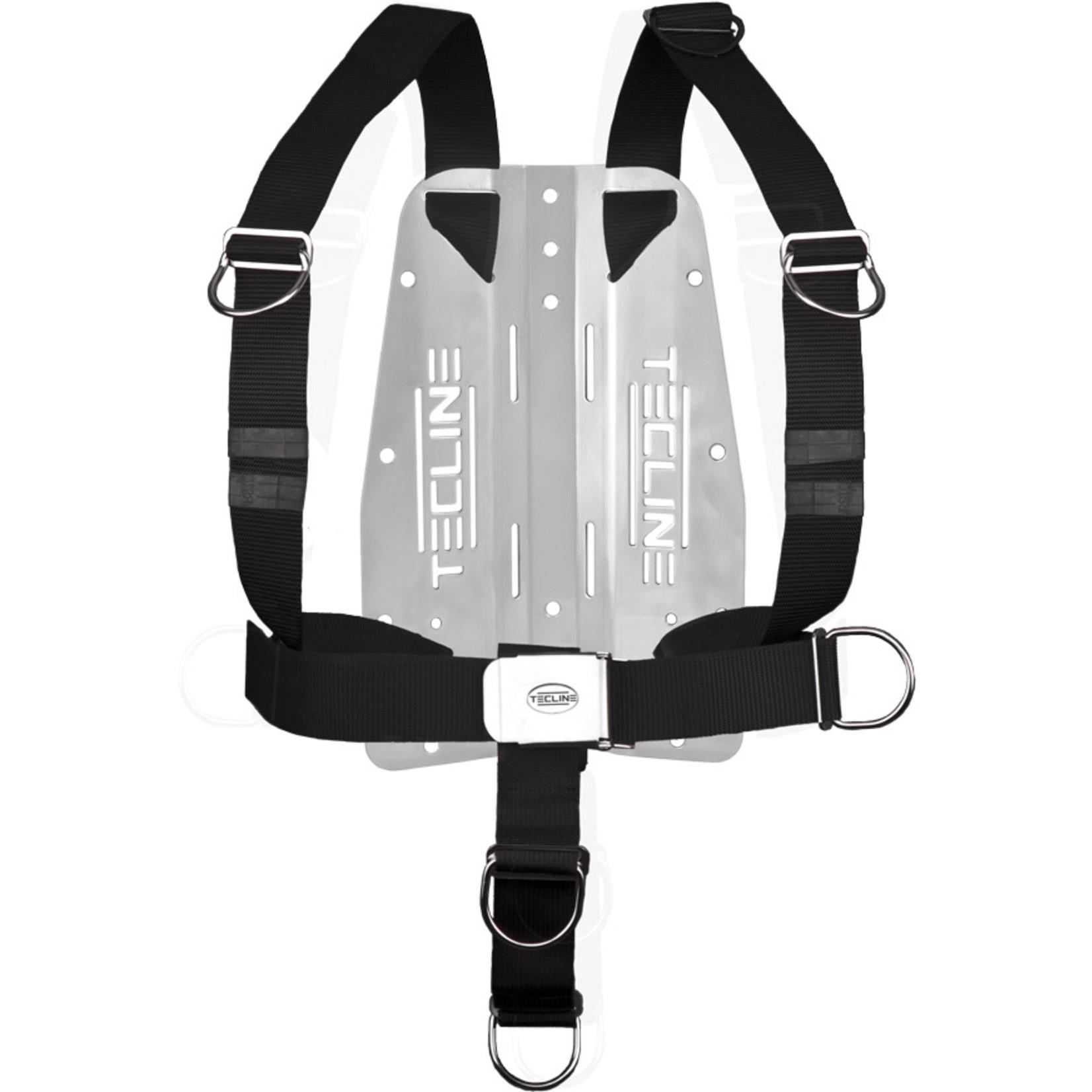 Tecline Harness TecLine DIR standard webbing - incl. 3mm RVS backplate, fixed D-rings