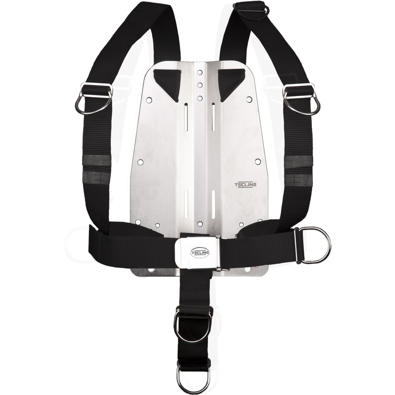Tecline Harness TecLine DIR standard webbing - incl. 3mm RVS backplate, BP without logo
