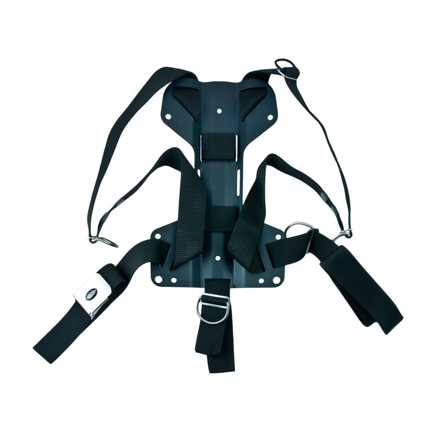 Tecline Harness Tecline DIR standard webbing - incl. 3mm aluminum backplate H - weight 1,27 kg