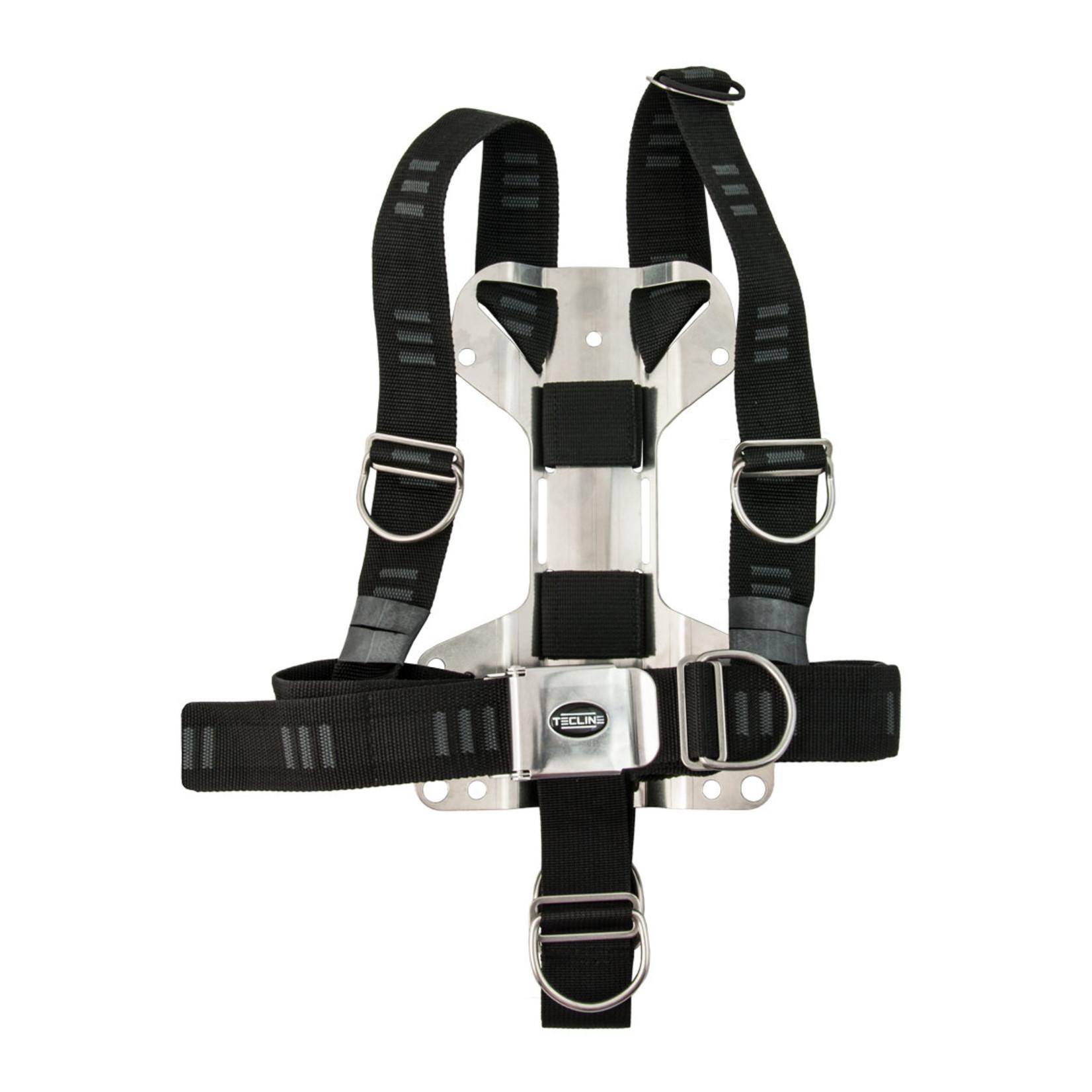 "Tecline Harness Tecline DIR soft webbing ""E"" - incl. 3 mm RVS backplate H MINI - weight 1,52 kg"