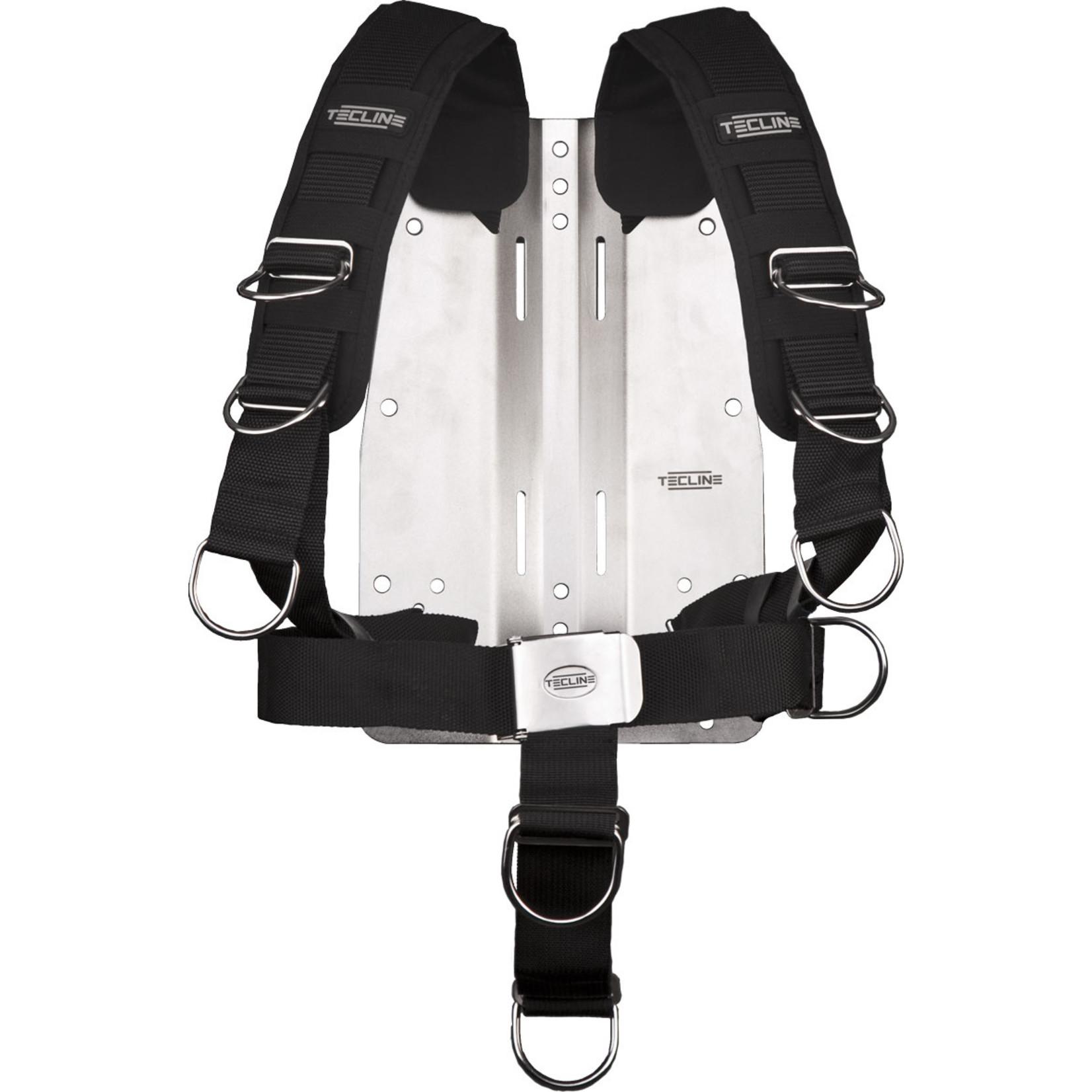 Tecline Harness TecLine Comfort (adjustable) standard webbing - incl. 6mm RVS backplate