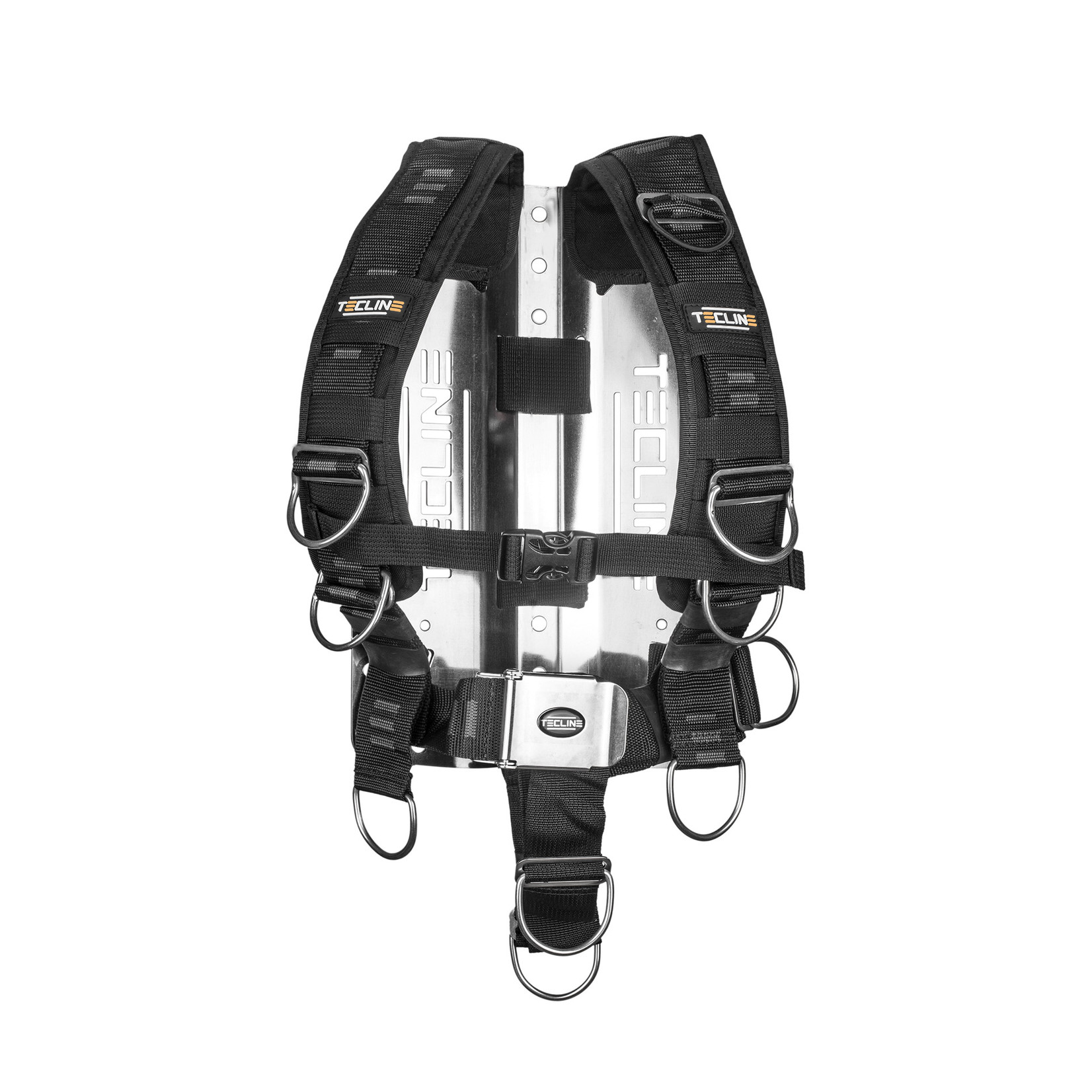 Tecline Harness TecLine Comfort (adjustable) standard webbing -  incl. 3mm RVS backplate