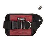 Tecline Double weight pocket Red Kevlar, left - Tecline