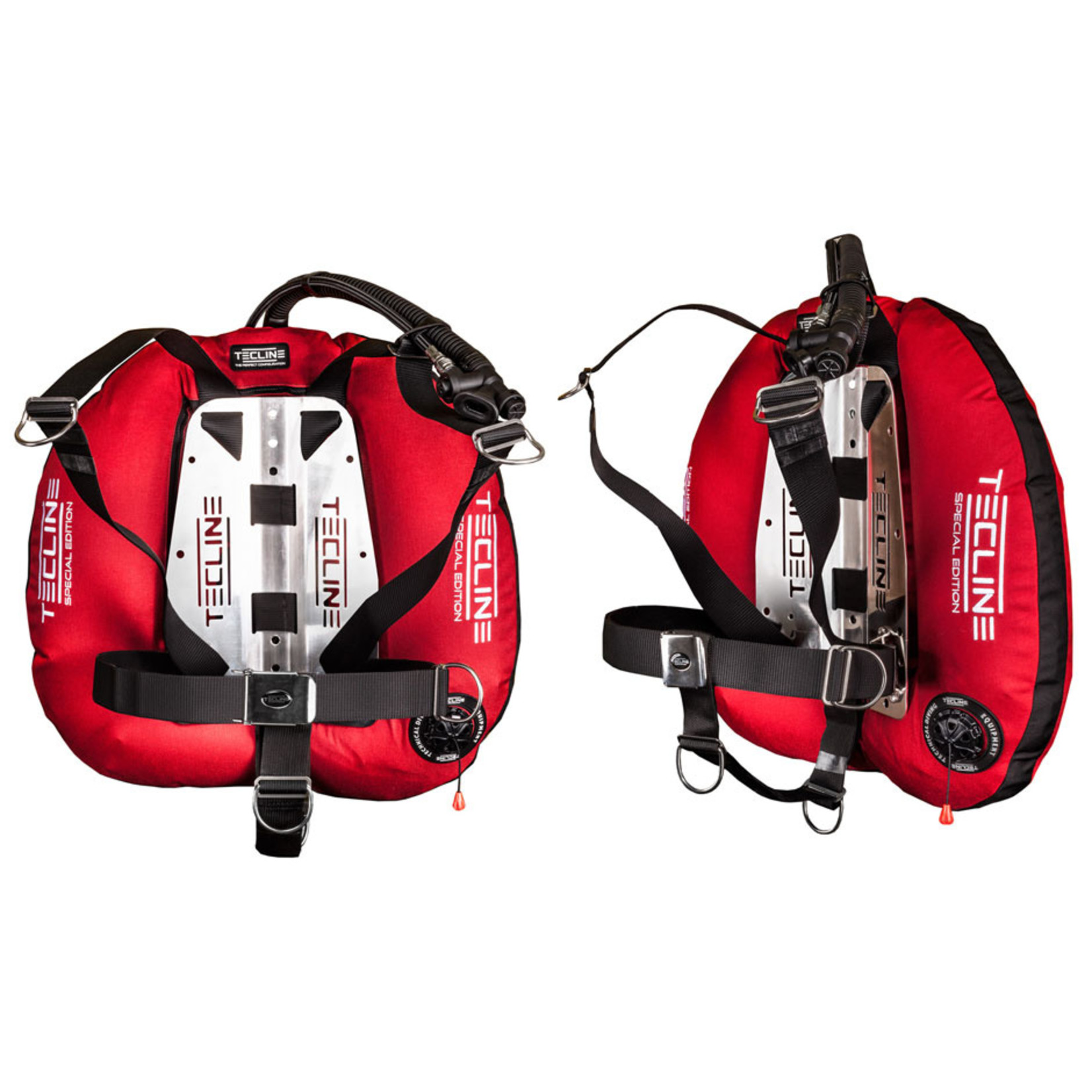 Tecline Donut 22 Special Edition red, with DIR harness & BP