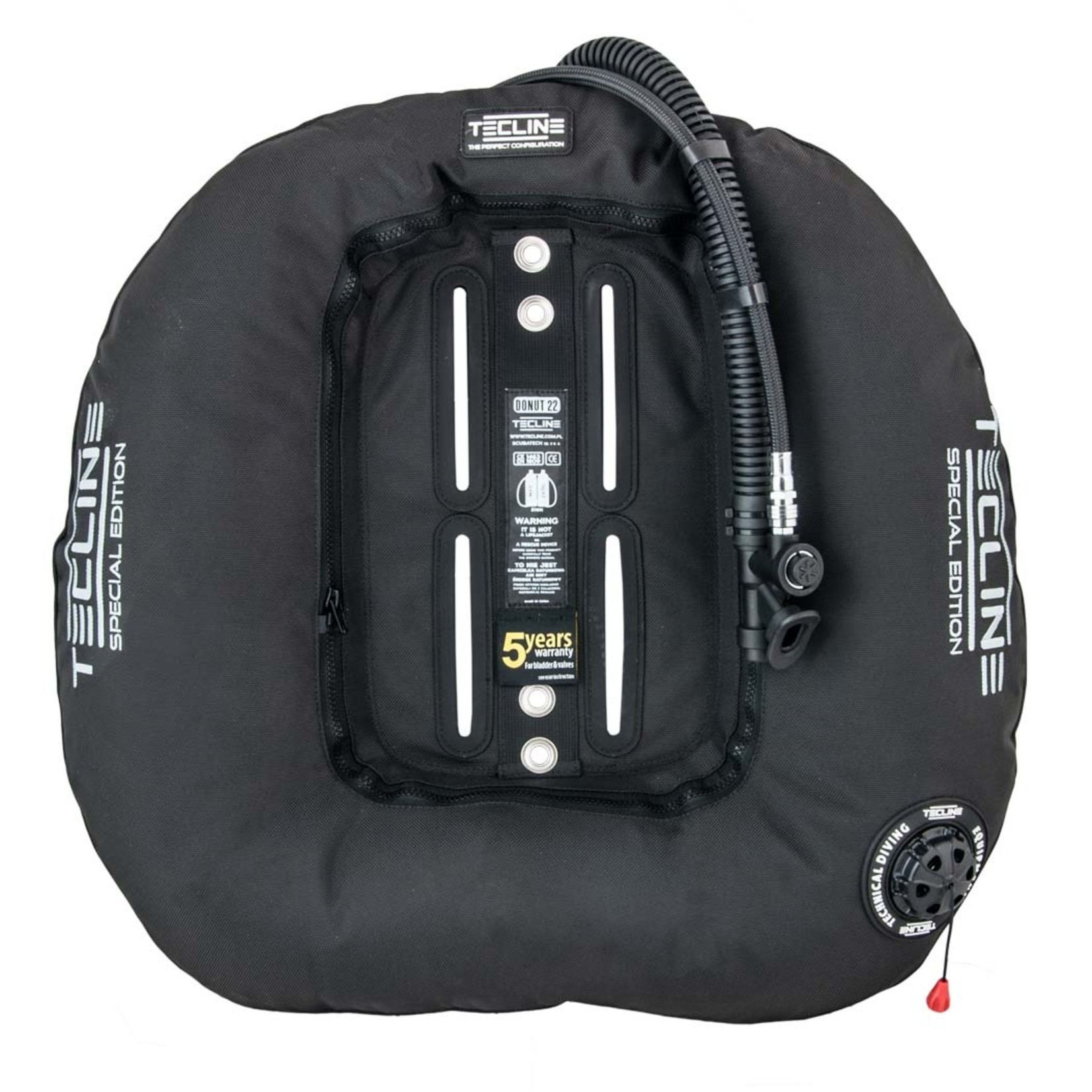 Tecline Donut 22 Special Edition Black (22kg/50lbs) for 2 x 12L