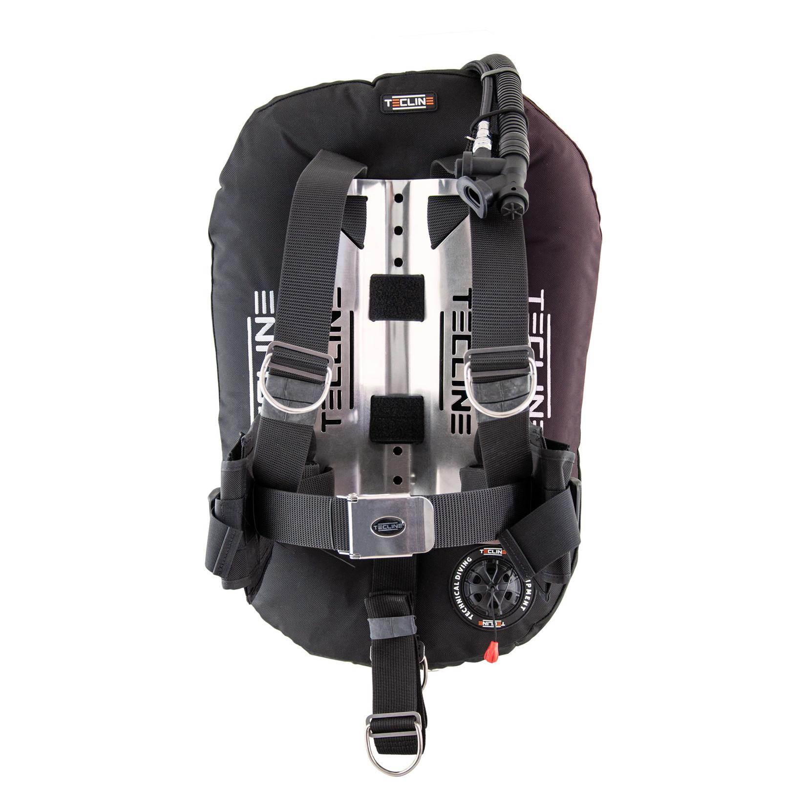 Tecline Ultra Light Travel Set: Donut 17, DIR harness, alu  BP, trim & weight pockets, tank belts