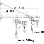 Holzmann Holzmann ESZ500D Elektrische lier met zwenkarm