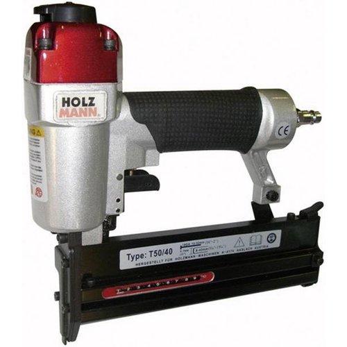 Holzmann Holzmann T5040 Pneumatisch Tacker - nietpistool 8-40mm en spijkerpistool 20-50mm