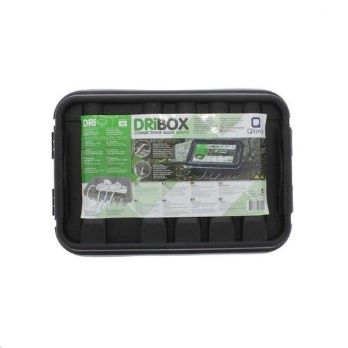 Heitronic Dribox waterdichte kabelverdeelbox voor buiten - IP55 - 28,5 x 15 x 11 cm - Zwart