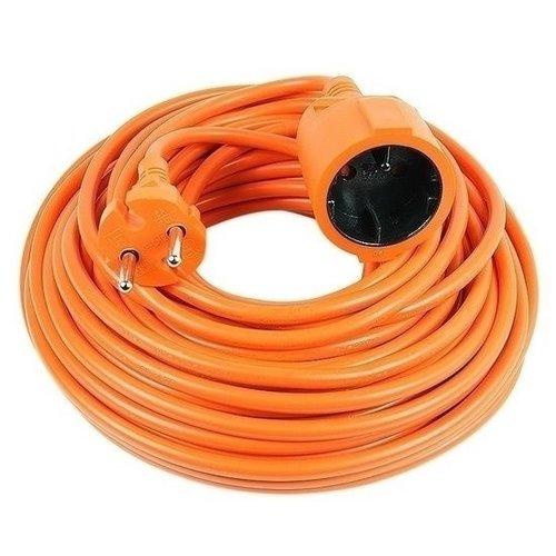 Vekto verlengsnoer 10 meter verlangkabel oranje 2500 watt