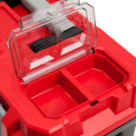 Gereedschapskoffer - zwart/rood - 490x260x240mm