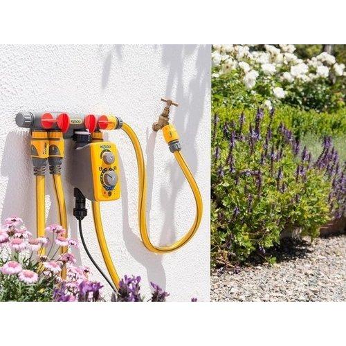 Hozelock Hozelock 4-weg waterverdeler met 2 extra slangstukken - 8,6x13,5cm