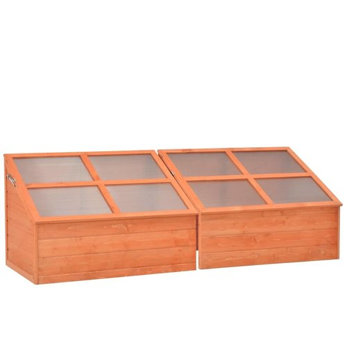 VXL Broeikas 180x57x62 cm hout