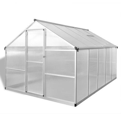VXL Tuinkas versterkt aluminium met basisframe 7,55 m²