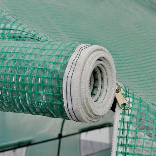 VXL Tuinkas walk-in draagbare polytunnel met stalen frame 18 m²