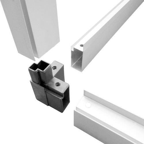 VXL Broeikas 23,44 m³ 481x250x195 cm aluminium