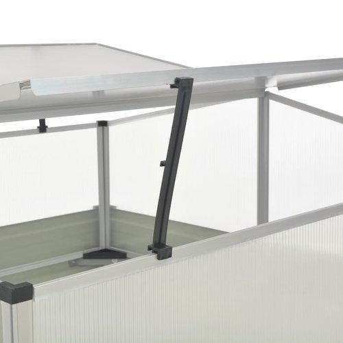 VXL Tuinkas 100x100x77 cm gegalvaniseerd staal antraciet