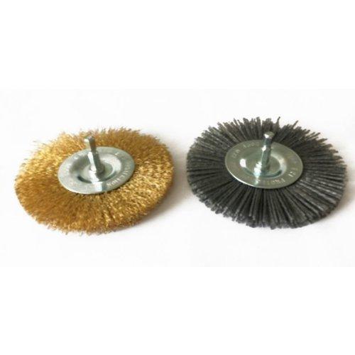 Güde 2 Stuks Onkruidborstels metaal/nylon voor voegenreiniger GFR 401 - 110mm borsteldiameter