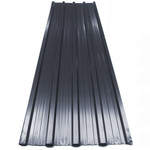 Deuba Deuba Metalen dak en wandplaten Zwart 129x45cm
