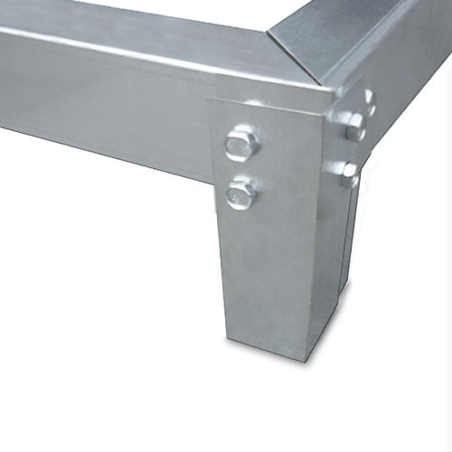 Deuba Deuba Aluminium kas 5,85 m³ met dakraam, regengoot en fundering