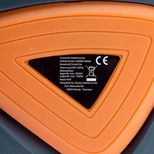 Deuba Deuba Automatische kabeltrommel 15m+1,5m aansluitkabel