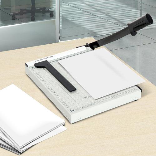 HOMdotCOM Papiersnijder metaal wit 48 x 26,5 x 5cm