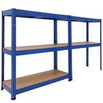 Deuba Deuba Metalen Opbergrek/Stellingkast met 5 legborden - 875kg draagkracht - (HxBxD) 180x90x40 cm - 175kg per plank - gepoedercoat