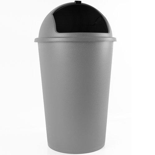 Vuilnisbak grijs plastic 50L