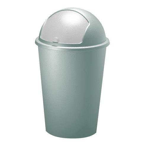 Vuilnisbak munt plastic 50L