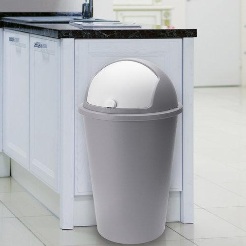 Deuba Deuba Vuilnisbak taupe plastic 50L