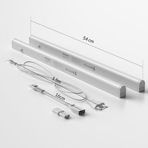 Monzana Monzana LED-lichtstripset van 2 Nedenfor