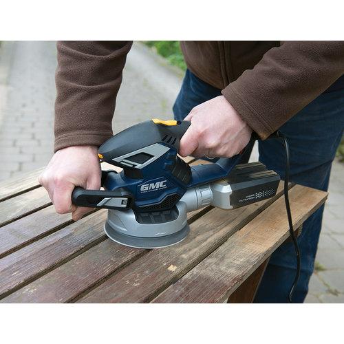 GMC GMC 430 W excenterschuurmachine met 2 schuurzolen, 150 mm