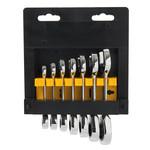 Silverline Silverline 7-delige korte steek-ringratelsleutel set 8 - 19 mm