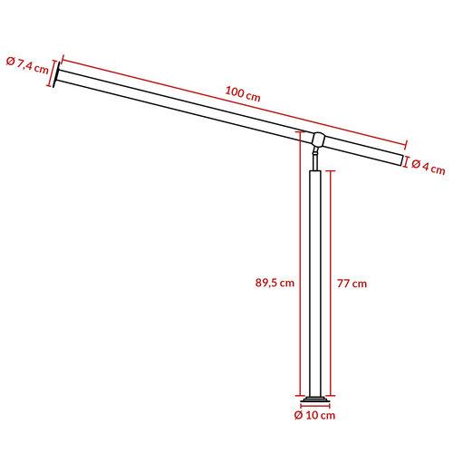 Monzana Monzana Ingangshek in roestvrij staal 100cm