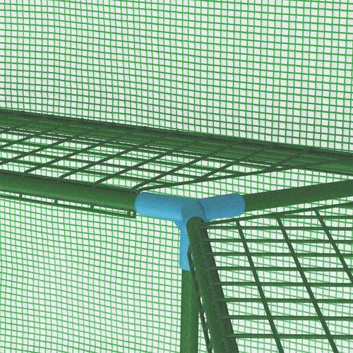 VXL Tuinkas met schappen 227x223 cm staal
