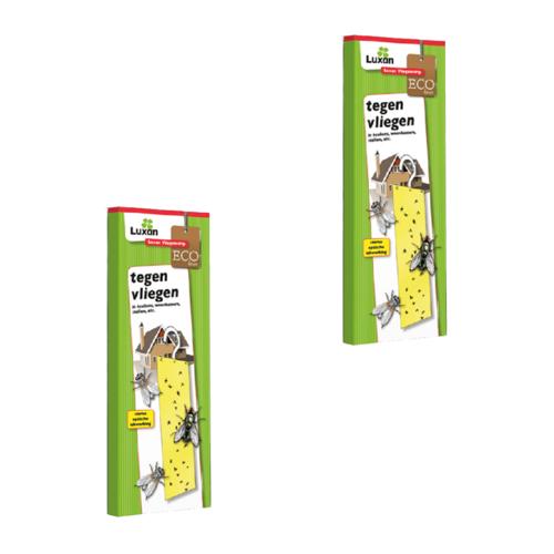 Luxan Luxan Vliegenstrip/ Vliegenvanger/ Kleefstrip met haakje - ECO niet giftig - 2 STUKS