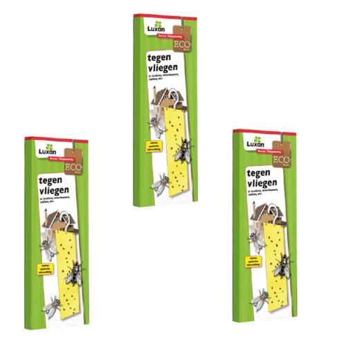 Luxan Luxan Vliegenstrip/ Vliegenvanger/ Kleefstrip met haakje - ECO niet giftig - 3 STUKS