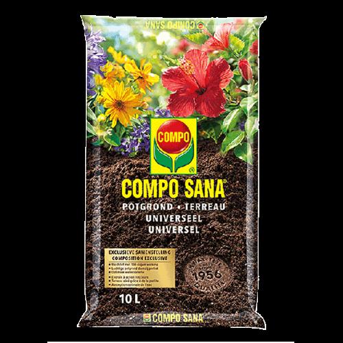Compo Sana Compo Sana 10L Potgrond - Universeel - 100 dagen werking