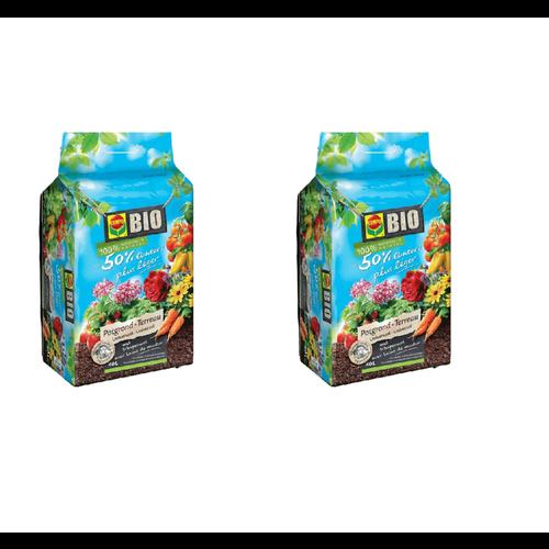 Compo Sana Compo Bio Universeel Potgrond - 40L - 50% lichter - 2 STUKS