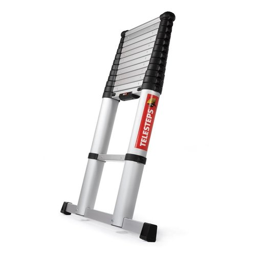Telesteps Telesteps Eco Line Telescopische Ladder 3.8m - 12 Treden - Met softclose en dwarsbalk - Aluminium