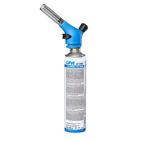 CFH CFH Krachtig handsoldeertoestel voor zacht- en hardsolderen - 360° draaibaar - piezo-ontsteking met butaan gasfles