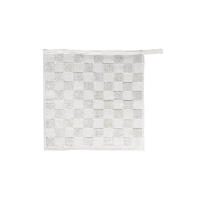 Zusss Handdoek geblokt wit