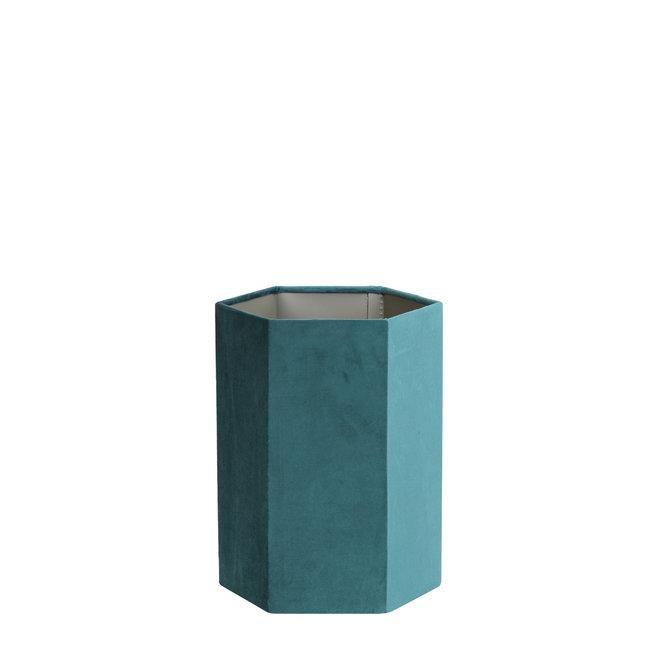 Light & Living Kap hexagon 20-20-26 cm VELOURS velvet petrol
